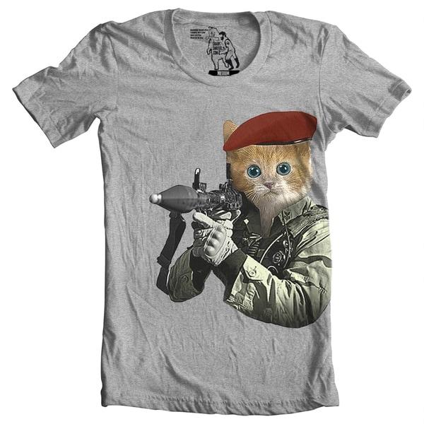 Men's G.I. Kitty Print Cotton T-Shirt