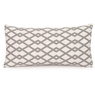 Grey Stone Kidney Style Throw Pillow