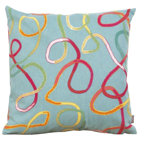 Squiggles Turquoise 20-inch Throw Pillow