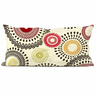 Orbit Poppy Throw Pillow