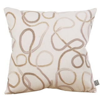 Squiggles Willow Cream 20-inch Patio Throw Pillow
