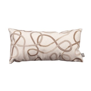 Squiggles Willow Cream Patio Throw Pillow