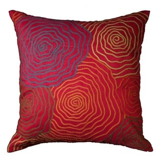 LNR Home Contemporary Geranium 16-inch Decorative Throw Pillow
