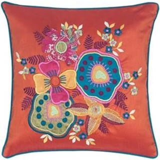 LNR Home Contemporary Nectarine Square Throw Pillows (Set of 2)