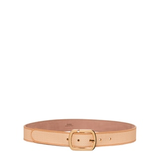Fendi Yellow Leather Micro Logo Belt