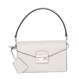 Prada 'Sound' Mini Talc Saffiano Leather Bag