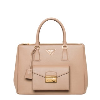 Prada 'Galleria' Beige Saffiano Leather Tote