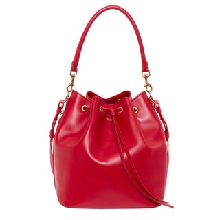 Saint Laurent 'Emmanuelle' Red Medium Bucket Bag