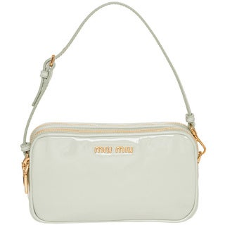 Miu Miu 'Vernice' Mint Green Patent Leather Mini Bag
