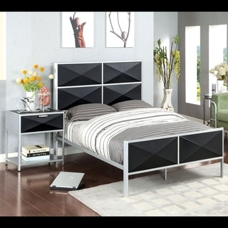 Furniture of America Zillo Contemporary Two-Tone Metal Bed