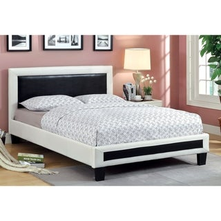 Furniture of America Blairess Modern 2-Tone Leatherette Platform Bed