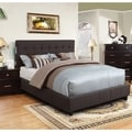 Furniture of America Behati Fabric Upholstered Platform Bed with Bluetooth Speakers