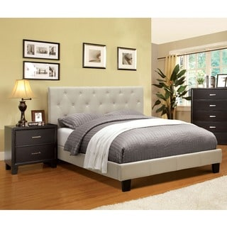 Furniture of America Perdella 2-piece Ivory Low Profile Bedroom Set