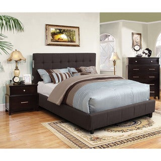 Furniture of America Behati 2-piece Bluetooth Grey Bed with Nightstand Set