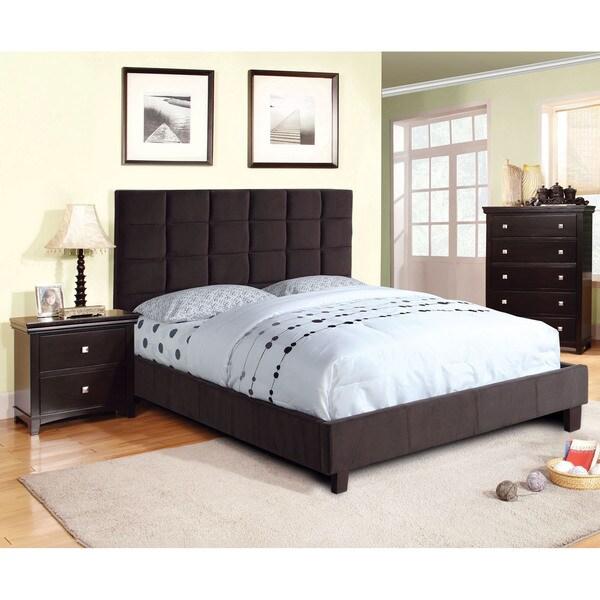 Furniture of America Sherolle Modern Flannelette Platform Bed