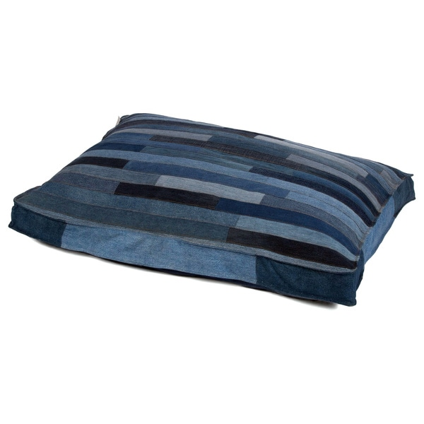 Cyrus Medium Recycled Denim Rectangle Pet Bed