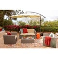 Cane 5-piece Light Brown Outdoor Wicker Coversation Set
