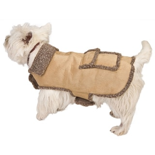 Sage Faux Suede / Berber Pet Coat