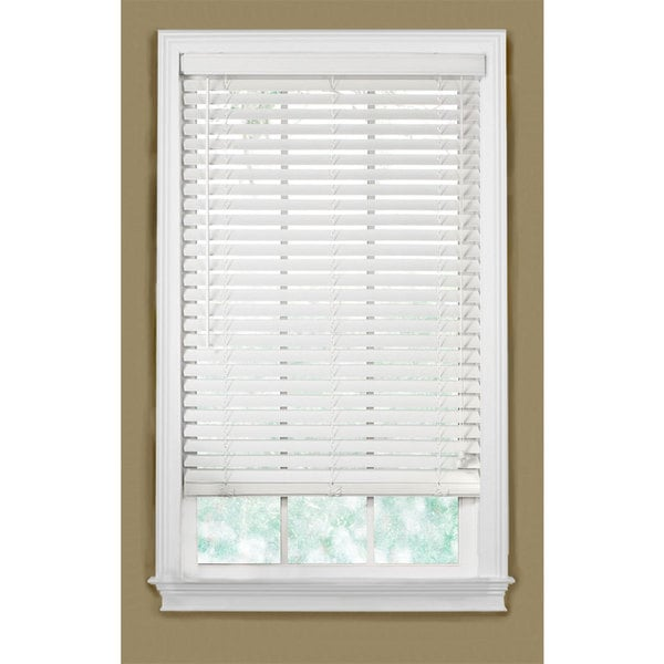 Basswood 2-inch White Wood Blinds