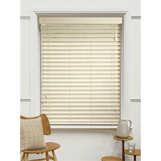 Basswood 2-inch Oyster White Wood Blinds