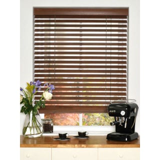 Basswood 2-inch Chestnut Wood Blinds