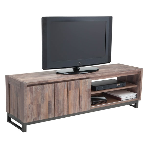 Sunpan Porto Solid Walnut Audio/ Video Stand