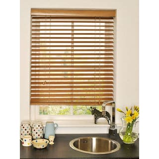 Basswood 2-inch Natural Wood Blinds