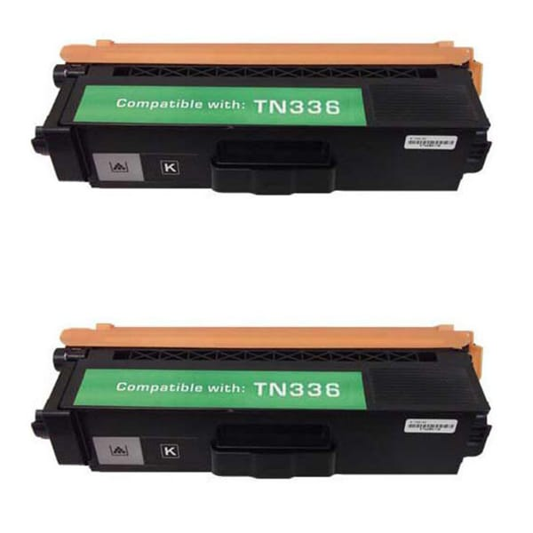Brother TN336 Compatible Black Toner Cartridges (Pack of 2)