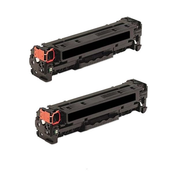 HP 312A / CF380A Compatible Black Toner Cartridges (Pack of 2)