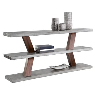 Sunpan Warwick Concrete/ Light Espresso Shelf