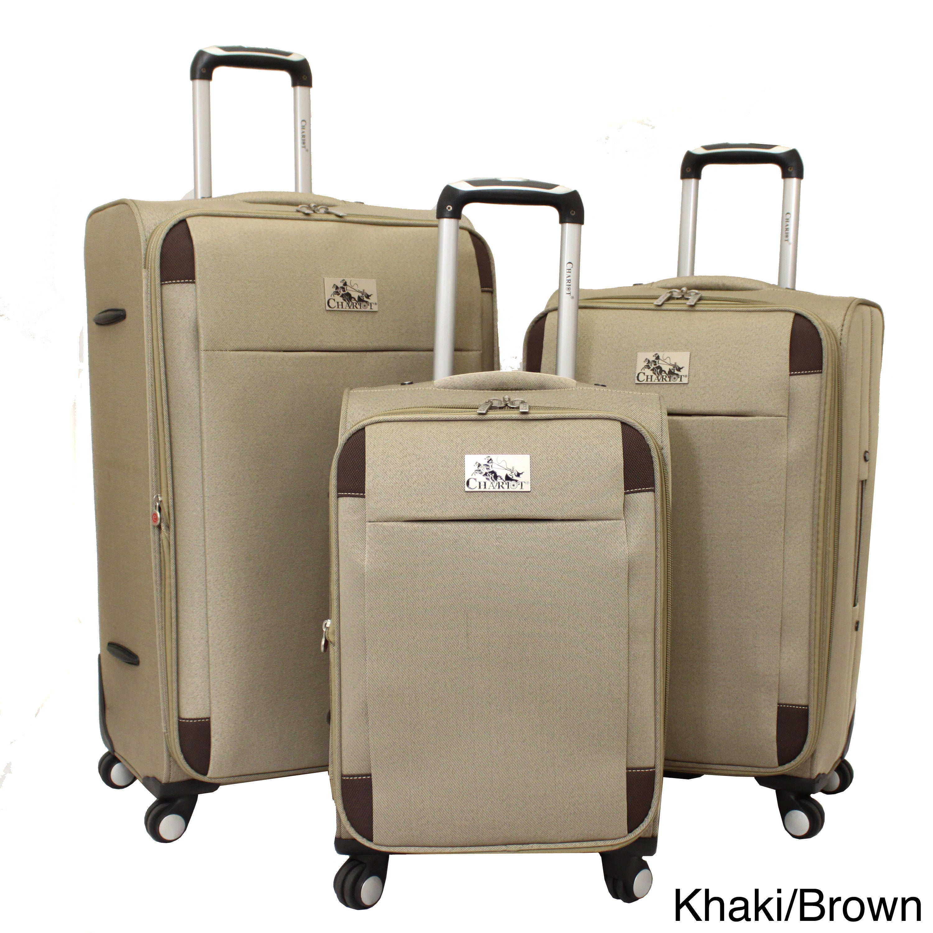 Chariot Travelware  Chariot Milan 3-piece Lightweight Spinner Luggage Set
