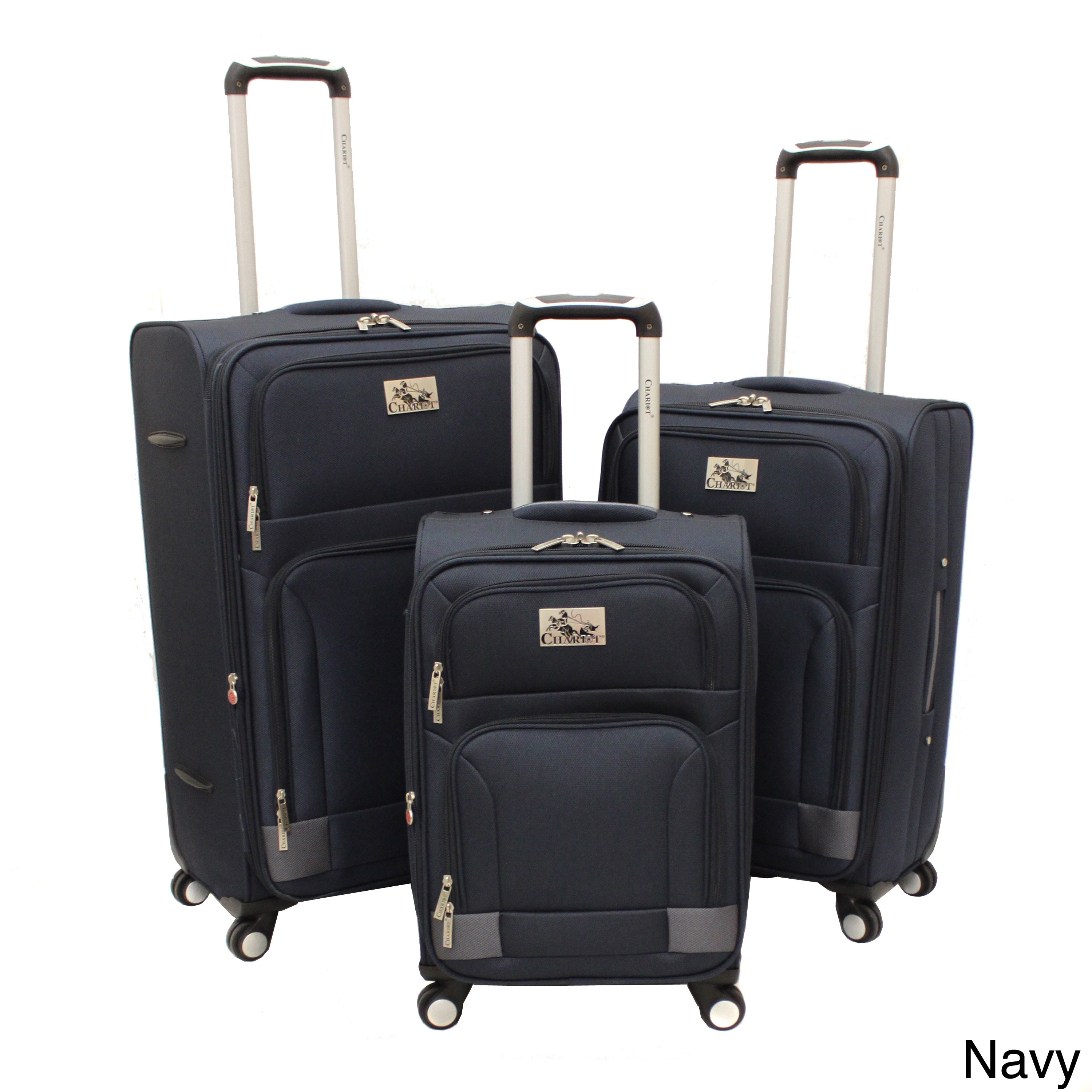 Chariot Travelware  Chariot Genoa Deluxe 3-piece Lightweight Spinner Luggage Set