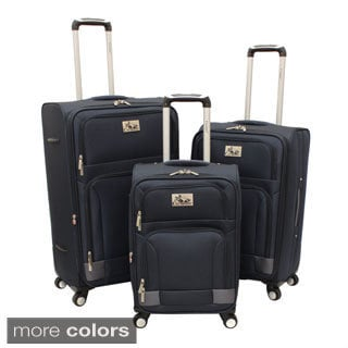 Chariot Genoa Deluxe 3-piece Lightweight Spinner Luggage Set