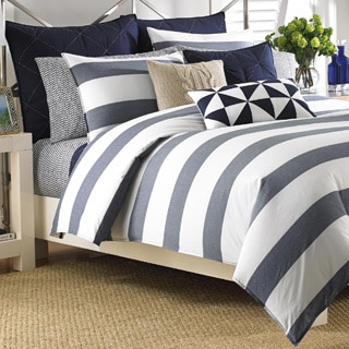 Nautica Lawndale Navy Cotton Comforter Set