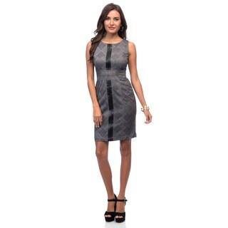Marc NY Black/ Nimbus Sleeveless Pencil Dress
