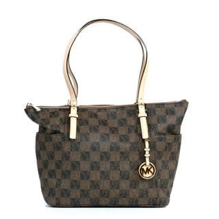 Michael Kors Jet Set EW TZ Checkerboard Tote