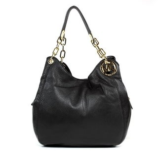 MICHAEL Michael Kors 'Fulton' Large Black Shoulder Tote