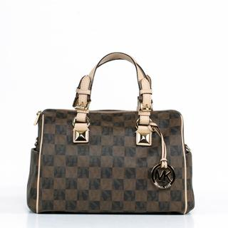 MICHAEL Michael Kors 'Grayson' Medium Chain Checkerboard Satchel