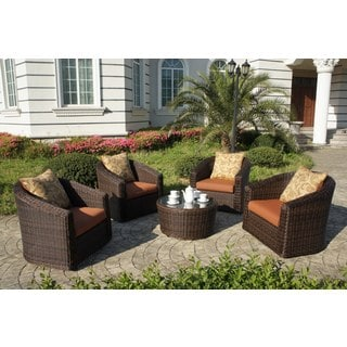 Andersen & Stokke's Premium Wicker Capri 5-piece Chat Set