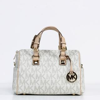 Michael Kors 'Grayson' Chain Medium Chain Vanilla Satchel