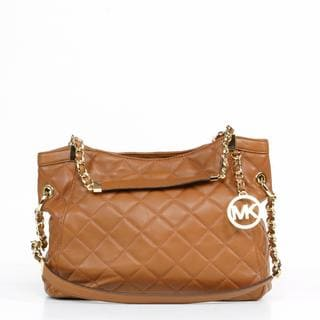 MICHAEL Michael Kors 'Susannah' Medium Walnut Shoulder Tote