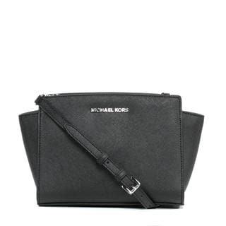 MICHAEL Michael Kors 'Selma' Medium Black Messenger