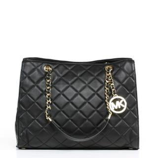 MICHAEL Michael Kors 'Susannah' Large Quilted Black Tote