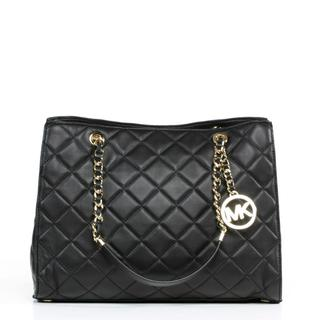 Michael Kors 'Susannah' Large Quilted Black Tote