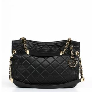 MICHAEL Michael Kors 'Susannah' Medium Black Shoulder Tote