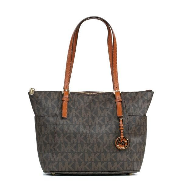 MICHAEL Michael Kors Jet Set EW TZ Brown Tote