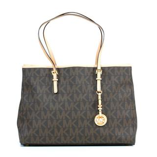 MICHAEL Michael Kors Jet Set Travel Large EW Brown Tote