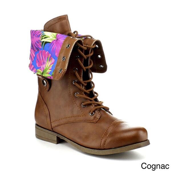 Bumper Women's 'Freda' Mid-calf Military Boots