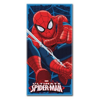 Spiderman Blue Webs Beach Towel