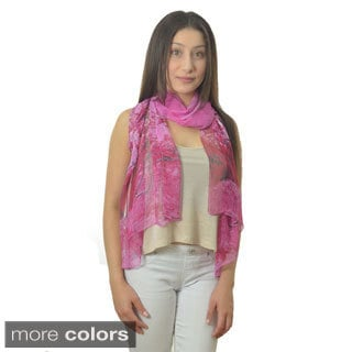 LA77 Women's Tree Printed Scarf